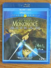 New ListingPrincess Mononoke 2-Disc Blu-ray/Dvd Combo Anime Movie Film Studio Ghibli Disney