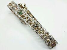 Vintage Sterling Silver Sapphire Ruby Emerald Bracelet 925