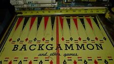 Built-rite USA made vintage backgammon / checkers game board No. 29 Free Ship