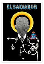 Movie Poster.El Salvador.Fascist saint.AntiNazi French art film.Puppet.Saint.