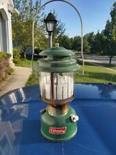 Coleman Green Double Mantle Lantern Vintage 07 80 1980 Model 220k Metal Glass