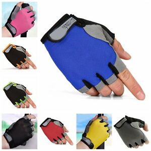 Women Men Sports Half Finger Gloves Workout Gym Training Yoga Weight Lifting