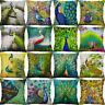 """18"""" Peacock Printing Animal pillow case Peacock Cushion Cover Sofa Home Decor"""