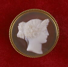 GODDESS FLORA - HAND CARVED AGATE CAMEO