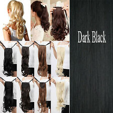 Lately Ponytail Styles Clip in Hair Extensions Straight Curly Cute Pony Tail G15