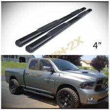"""2pcs 4"""" Oval Blk Side Step Nerf Bars Fit 09-18 Dodge Ram 1500 Quad/Extended Cab"""