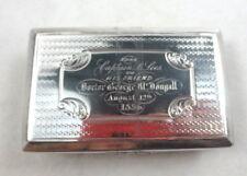 ANTIQUE NATHANIEL MILLS BIRMINGHAM STERLING SNUFF BOX ENGRAVED 1844