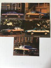 1984 Buick Regal Riviera Century Skyhawk LeSabre Dealer Factory 5 Postcards 5 X7