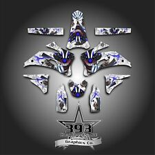 YAMAHA YZ450 F YZ250 F 2006-2009 GRAPHICS KIT DECALS EVIL JOKER WHITE BLUE