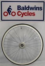 "27"" x 1 1/4 REAR Bike Wheel + Premium White Wall Tyre & 5 Speed FreeWheel"
