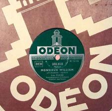 LEO FERRE 78 TOURS RPM MONSIEUR WILLIAM JUDAS ODEON 282.818 TBE