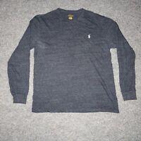 Polo Ralph Lauren Dark Gray Men's Medium Crewneck Long Sleeve Casual T-Shirt