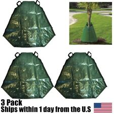 Tree Watering Bag 20 Gallon Green Young Water Slow Release Irrigation 3Pk