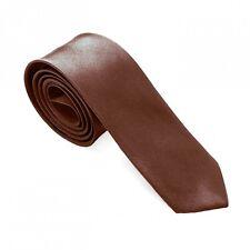 1 Krawatte Schlips Binder Business Schmal Dünn Anzug Herren Tie Unifarben Farbig