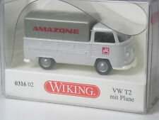 TOP: Wiking Serienmodell VW T2 Pritsche mit Plane Amazone in OVP