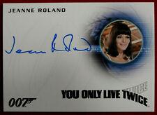 JAMES BOND - YOU ONLY LIVE TWICE - JEANNE ROLAND as Masseuse - AUTOGRAPH CARD