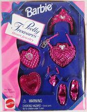 Barbie Pretty Treasures Metallic Red Heart Jewelry Accessory Set (NEW)