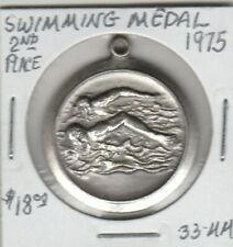 Token - Swimming Medal - 1975 - 2nd Place - 38 MM