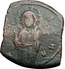 JESUS CHRIST Class C Anonymous Ancient 1034AD Byzantine Follis Coin CROSS i58924