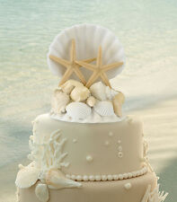 LILLIAN ROSE COASTAL MIST SEA SHELL WEDDING CAKETOP
