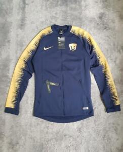 Men's Nike Pumas UNAM Anthem Jacket 920059-452 Navy/Gold sz SMALL