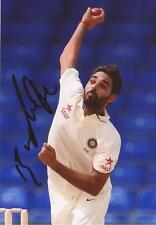 India: Bhuvneshwar Kumar Signed 6x4 Test Action Photo+Coa