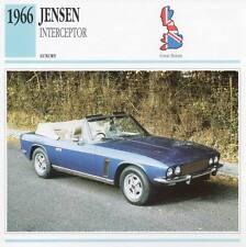 1966 JENSEN INTERCEPTOR Classic Car Photograph / Information Maxi Card