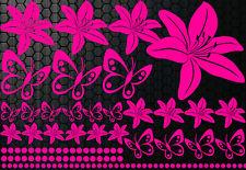 96x piezas XXL LILIAS Blu3 Pegatina Hibiskus Mariposas HAWAII WANDTATTOO
