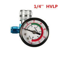 Digital Spray Paint Gun Regulator Air Pressure Gauge 1/4inch HVLP Compressor kit