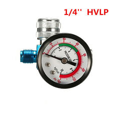 Digital Spray Paint Gun Regulator Air Pressure Gauge 1/4inch HVLP Compressor kit