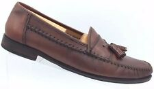 SANDRO MOSCOLONI Sz 10.5 Men's Brown Leather Casual Tassel Loafers Olivio