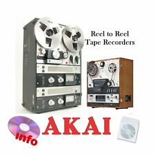 AKAI  REEL TO REEL TAPE RECORDER MANUALS on CD - VARIOUS MODELS