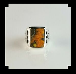 Fire and Ice Navajo Men's Ring   Size 11