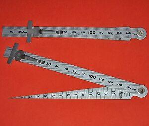 Japanese SHINWA Taper Welding Gauge Gage ruler Test Welder Kegelmessgerät 62612
