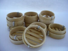 10 Pcs. Dollhouse Miniatures  Dim Sum Bamboo Baskets Chinese Food (2 cm) Artist