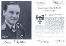 SPGL19 German Luftwaffe photo signed PIPAN KC Ju87 Stuka pilot