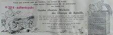 PUBLICITE MICHELIN GUIDES ILLUSTRES DES CHAMPS DE BATAILLE BIBENDUM DE 1920 AD