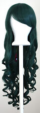 29'' Long Curly w/ Long Bangs Forest Green Cosplay Wig NEW