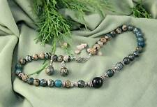 Australian Fairy Opal, Jasper, S/S Necklace & Earrings
