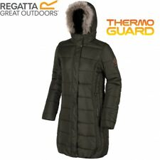 RRP £90 Regatta Womens/Ladies Fermina Thermoguard Padded Long Coat/Jacket