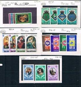 St Lucia - 1976/1981 - 5 Complet Bas Catalogue Valeur Jeux To List Séparément