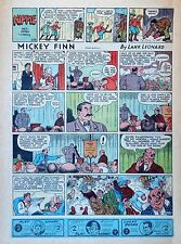 Mickey Finn by Lank Leonard - full tab page color Sunday comic - March 29, 1942
