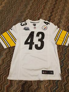 Troy Polamalu Pittsburgh Steelers away jersey Men's sz M Superbowl patch Nike