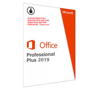 Microsoft Office 2019 Professional Plus Retail License for 1PC w/ DVD