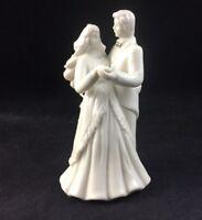 🔵 Mikasa Fine Porcelain WEDDING BELLS Bride Groom Figurine CAKE TOPPER FK018