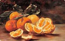 Still Life Art Painting, Peeled Oranges Fruits (S. Hildesheimer) 1905