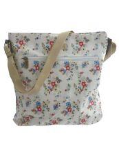 Women's Summer Daisy Cotton Canvas Floral Cross Body Bag Cream LP71333