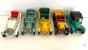 Lot of 5 Models of Yesteryear Diecast Cars by Lesney Made in England