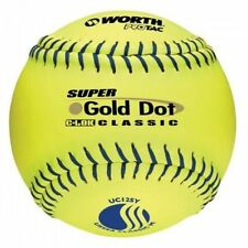 "Worth Super Gold Dot Usssa 12"" Slowpitch Softball Uc12Sy"