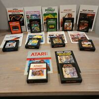 Lot of 11 Game with Manuals Atari 2600 E.T., Pitfall!, Night Driver, and more